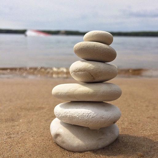 Stapel van stenen
